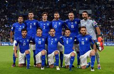 Italy team lines up during the FIFA 2018 World Cup Qualifier between Italy and Spain at Juventus Stadium on October 6, 2016 in Turin, Italy.