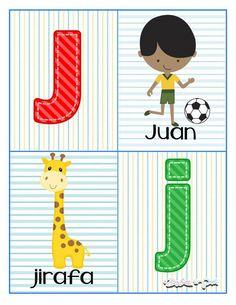 Tarjetas para trabajar el abecedario - Imagenes Educativas Preschool Spanish, Pre Kindergarten, Math For Kids, Gremlins, Future Baby, Kids And Parenting, Alphabet, Homeschool, Classroom