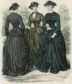 A common feature of 1850's and very early 1860's sidesaddle riding habits is ...corsetsandcrinolines.com