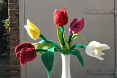 Haken voor kinderen: Gratis haakpatroon: tulpen
