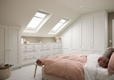 """Kindred on Instagram: """"Looking for a way to transform an attic room with awkward sloped ceilings or a unique shape? Our Made-to-Measure Collection allows for…"""" Dream Bedroom, Home Bedroom, Bedroom Decor, Bedrooms, Angled Ceiling Bedroom, Sloped Ceiling, Messy Bedroom, Slanted Walls, Attic Rooms"""