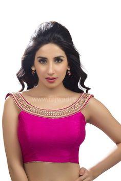 Designer Hot Pink coloured Ready made Choli