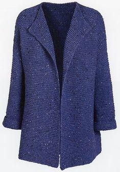Ravelry: Denim Blue pattern by Susie Haumann pattern Denim Blue pattern by Susie Haumann Easy Knitting, Loom Knitting, Knitting Stitches, Knitting Designs, Knitting Patterns Free, Knit Cardigan Pattern, Crochet Cardigan, Gilet Crochet, Knit Crochet