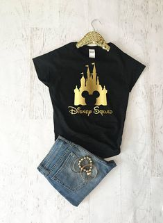 Disney Squad Shirts, Disney Shirts For Women, Girls Disney Trip Shirts, Women Disney t shirt Source by kristienilsamclaughlin Look t-shirt Disney World Outfits, Disney World Shirts, Disney Vacation Shirts, Shirts Bff, Travel Shirts, Cute Disney, Disney Style, Disney Tank Tops, Look T Shirt