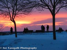 Amazing Sunset after the February Blizzard in Portland. - Sunsets, Winter, Maine