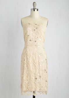 Legal ceremony or rehersal? Having cultured your heart with pure love, its now time to express your advanced style with this soft beige sheath dress. Mod Dress, Maxi Wrap Dress, Lace Dress, Sheath Dress, Retro Vintage Dresses, Vintage Outfits, Cute Dresses, Casual Dresses, Fringe Flapper Dress