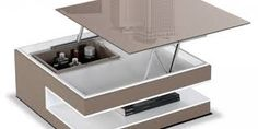 Innovation table de salon relevable innovation salons - Table basse qui s ouvre ...