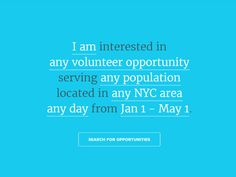 A website search engine interaction created for a volunteer agency in NYC. Written with CSS/Javascript.