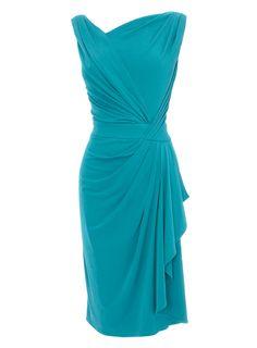 Dark Green Grecian Dress – occasionwear – Women – BHS – great for a wedding or party