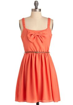 Cut to the Coral Dress