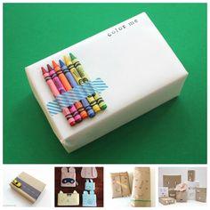 Envolver regalos, 5 paquetes divertidos para ni�os
