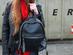 Fashion Love: RED SCARF*, BIKERJACKET & GUCCI BELT