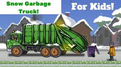 Garbage Truck Picking Up Trash In The Snow!
