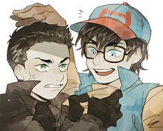 John (superboy (renascimento)) &  Damian (robin (5° geração de robin's))