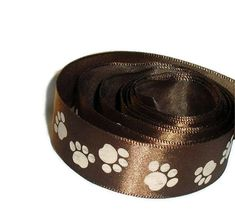 Paw Print Ribbon...7/8 X 10 yards by ThisandThatCrafter on Etsy, $6.00