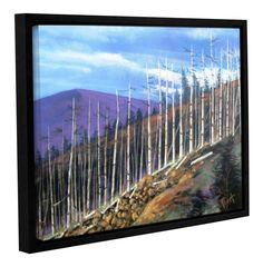 First Sight by Gene Foust Floater Framed Painting Print on Wrapped Canvas
