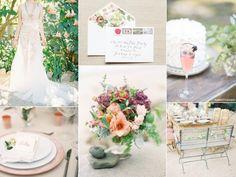paleta de cores casamento do verão e inspiração |  http://burnettsboards.com/2014/01/romantic-summer-garden-wedding/