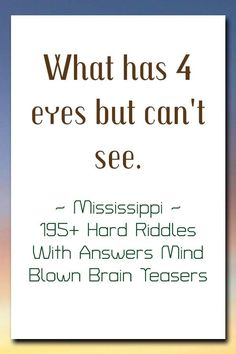 195+ Hard Riddles With Answers Mind Blown Brain Teasers Brain Twister, Hard Riddles With Answers, Brain Teasers Riddles, Best Riddle, Mind Blown, Digital Marketing, Mindfulness, Humor, Clever