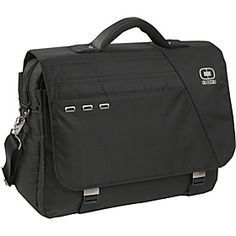 """At $75, the OGIO Flap Over Laptop Bag is a steal.  It's built well, easily holds up to a 16"""" laptop, two large books, a power adapter, a tablet, mouse, and tons of pockets and sleeves for pens and notepads.  The handle is well constructed, and it comes with rear locks for attaching to your wheeled carry-on at the airport.  Plus it's black on black.  This is a bag for someone who works for a living."""
