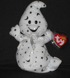 Ty Beanie Baby Halloween Vanish The Ghost Retired 40736 for sale online Expensive Beanie Babies, Rare Beanie Babies, Beenie Babies, Beanie Baby Bears, Ty Beanie Boos, Ty Bears, Ty Babies, Baby Friends, Beanie Buddies