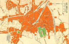 oude kaart van Almelo met de haven