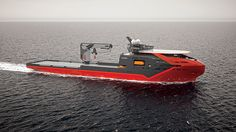 Concept Off-shore Construction Vessel for Vard, by Montaag Design