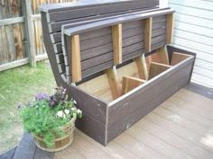 Furniture: Magnificent Outdoor Storage Box Bench Seat Also Outside Storage Bench Seat from 3 Tips To Get Best Quality Of Deck Storage Bench Outside Storage Bench, Storage Bench Seating, Bench With Storage, Outdoor Storage, Deck Seating, Outdoor Seating, Deck Benches, Patio Bench, Outdoor Deck Decorating