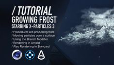 In this tutorial by Daniel Danielsson, we'll explore how to simulate some self-propelling procedural growing frost using X-Particles in Cinema 4D.
