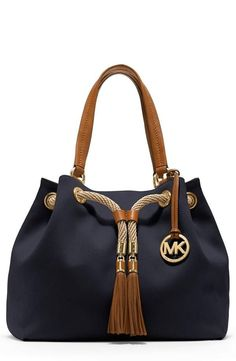 Nautical inspiration! Drawstring tote by Michael Kors. I will purchase this bag.