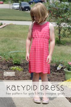 katydid dress {for girls} free knit sundress pattern