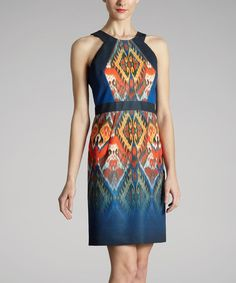 Take a look at this Navy Ikat Dress by Muse on #zulily today!