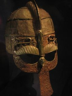 Helmet from a 7th century ship burial in Vendel, Sweden