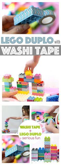 Kids Crafts with Washi Tape   Washi Tape Lego Duplos