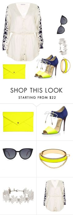 """Untitled #745"" by crazybookladysuzejn ❤ liked on Polyvore featuring Danielle Nicole, Christian Louboutin, Fendi, CC SKYE, Miss Selfridge and Pampelone"