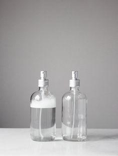 Small Glass Spray Bottle with Aluminum Mist Sprayer by Rail19