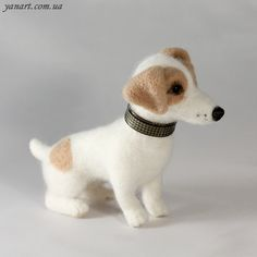 Jack Russell Terrier  OOAK Artist Needle Felted Dog by YanArt, $130.00