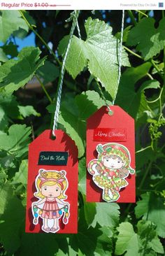 Handmade Christmas Gift Tags Sunny Christmas by JemLouProductions, $0.80    pcfteam