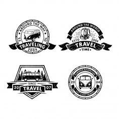 Set of vintage traveler badges Premium Vector Retro Background, Background Patterns, Textured Background, Free Vector Illustration, City Illustration, Memphis Pattern, How To Age Paper, Memphis Design, D 20