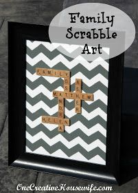 One Creative Housewife: Scrabble Family Art