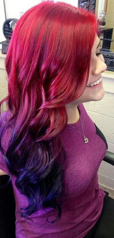 Red with purple tips
