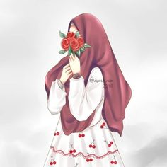 Cute Muslim Couples, Muslim Girls, Muslim Women, Anime Muslim, Muslim Hijab, Cute Cartoon Girl, Anime Girl Cute, Hijabi Girl, Girl Hijab