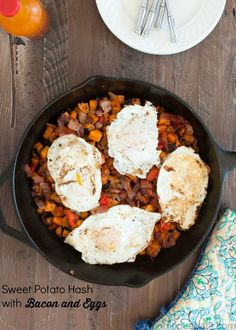 Sweet Potato Hash with Bacon and Eggs | www.nutritiouseats.com