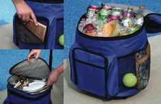 Rolling Cooler  Portable Travel Cooler with Telescopic Handle and Extra Large Capacity 17 X 13 X 10 >>> Check this awesome product by going to the link at the image.
