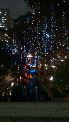 The San Antonio River Walk San Antonio Riverwalk, River Walk, Fair Grounds, Texas, Sunset, History, Holiday Decor, Places, Christmas