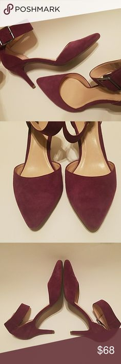 Cole Haan Suede Heels with Ankle Straps