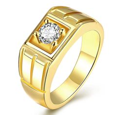 Cheap ring jewelry, Buy Quality wedding band directly from China men punk Suppliers: New Yellow Gold / Rose Gold / White Gold Color Men Punk Ring Geometric Square CZ Wedding Bands Ring Jewelry For Men Cz Wedding Bands, Wedding Rings Vintage, Ring Ring, Gents Ring, Mens Gold Jewelry, Zirconia Rings, Classic Gold, Engagement Jewelry, Wedding Engagement