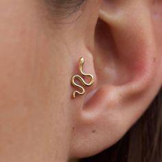Tragus Piercings, Piercings Corps, Cute Ear Piercings, Tragus Piercing Jewelry, Body Piercings, Ears Piercing, Diath Piercing, Tragus Stud, Multiple Ear Piercings