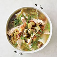 Mindy Fox Chicken Soup - Recipe for Chicken Noodle Soup with Dill and Leeks - Country Living