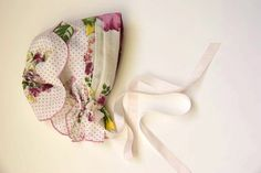 How to make a baby bonnet out of an old handkerchief.... so cool by carlene