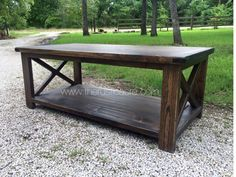 Rustic X Bar Coffee Table. Custom Built by The Rustic Acre in College Station, TX